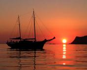 rowena al tramonto a Capo Rossello